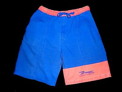 Vintage 80s Vintage Color Block Board Shorts Size M Swim Trunks