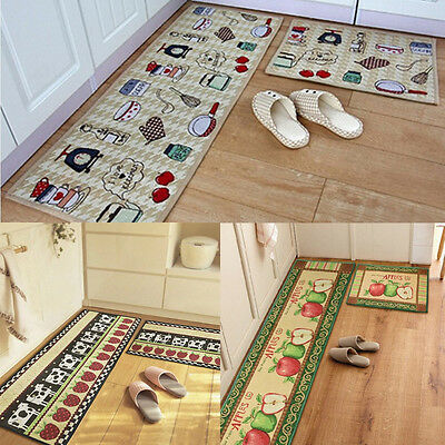 yazi Kitchen Rug Door Mat Bathroom Anti-slip Floor Rug Polyester Carpet Runner