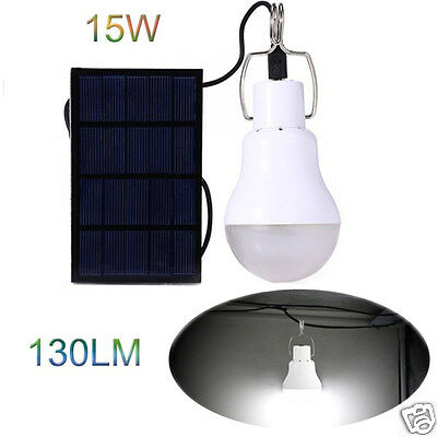 Portable 15W 130LM Chargeable Solar LED Bulb Light For Outdoor Camping Lamp