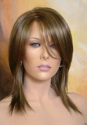 Beautiful Razor Cut Layers Willow MP Wig Wigs Hand Tied Monofilament Parting