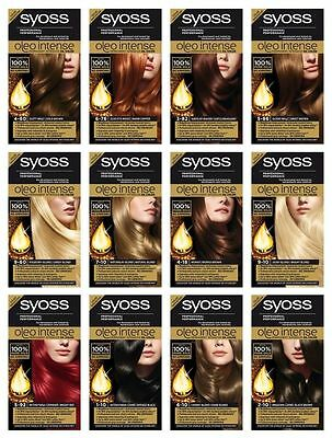 SYOSS Oleo Intense Permanent Oil Color Professional Performance NO AMMONIA
