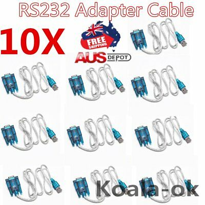 10pc USB 2.0 TO SERIAL RS232 DB9 9 PIN ADAPTER CABLE PDA cord GPS CONVERTER LOT