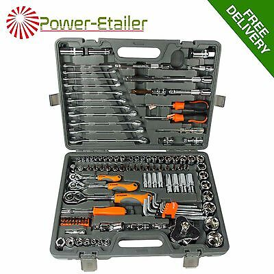 "120pcs Socket Set 1/2"" 1/4"" 3/8"" Drive Metric Combination Spanners Wrenches Bits"