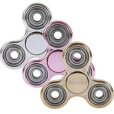 Hand Spinner Tri Fidget Metal Ball Desk Focus Toy EDC Gift For Kids / Adults UK