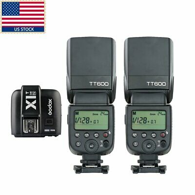 US 2x Godox TT600 2.4G Wireless Camera Flash Speedlite X1T-N TTL Trigger f Nikon