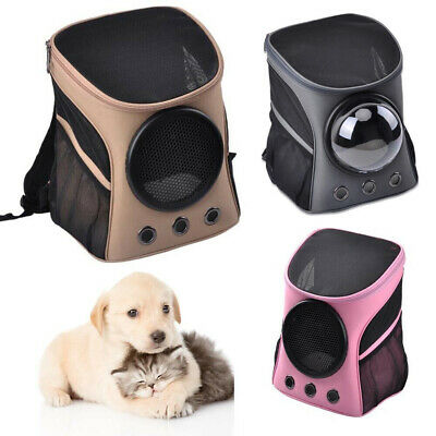 NEW Pet Dog Puppy Cat Canvas Backpack Comfort Front Capsule Carrier Travel Bag