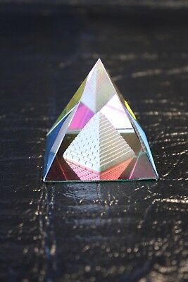 Crystal Glass Pyramid Decor Gift Box