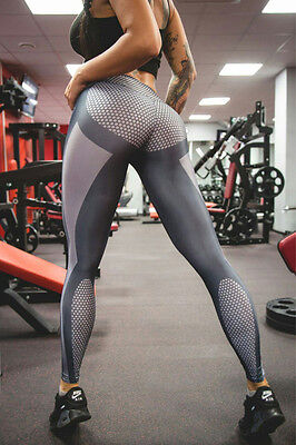 Women Yoga Sports Running Pants Leggings Stretchy Fitness Trousers Gym Clothing