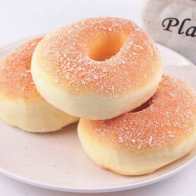 1X Jumbo-Squishy Bagels Bread Breadcrumb Scented Food Simulation Toys Dining