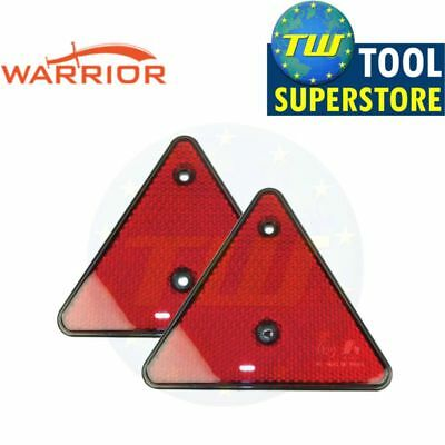 2x Red Triangle Reflectors Ideal for Trailers Caravans Boats Trucks Gates Posts