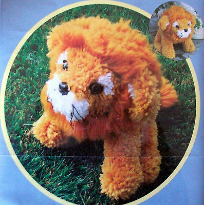 "Latch Hook Making Kit ""huggable Lion""  16"" Long"