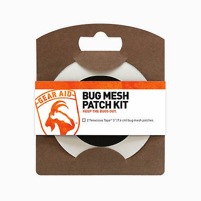 Gear Aid Tenacious Tape Bug Mesh Patch Kit 2 Patches No-See-Um Nets Tent Screen