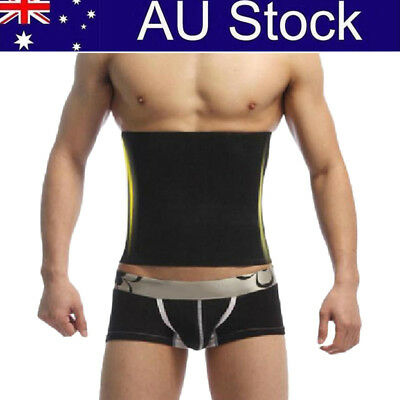 Men Waist Cincher Slimming Body Training Belt Tummy Corset Body Shaper BU