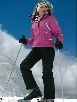 Women Ladies Snow SkiSuit Jacket/Pants Hiking Pink/Black SZ10-14 Water/WindProof