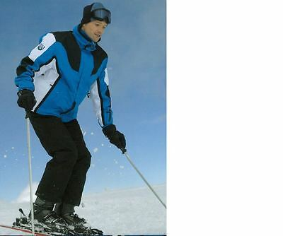 Men Snow Ski Suit Set Jacket/Pants Hiking Water/WindProof Blue/Black SZ M-XXL