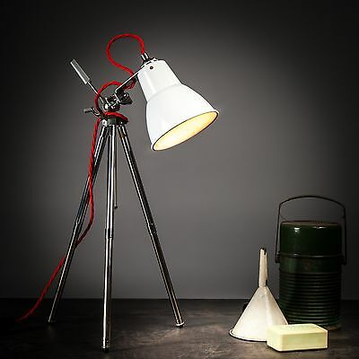 Vintage Industrial Desk Lamp / Floor Lamp / Tripod Lamp / Art Deco Lamp