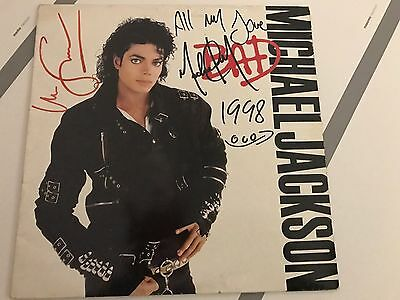MICHAEL JACKSON SIGNED BAD ALBUM  RECORD  and  MARTIN SCORSESE