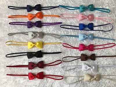 Baby Girls Headband Small Bow Skinny Elastic Hair Accessories Christening  +Lot