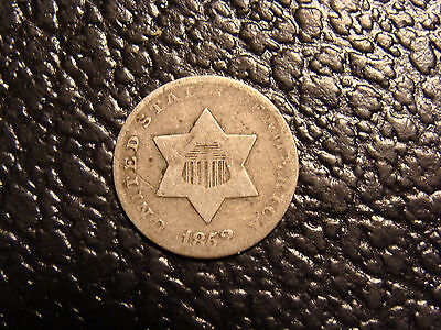 1852 Type 1 3 Cent Silver VG WE COMBINE ON SHIPPING