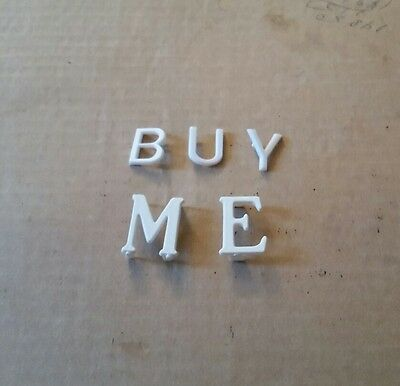 Miscellaneous 3/4 inch and 1 inch Davson letter board letters.