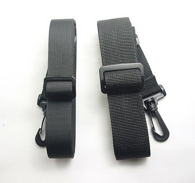 """Black Replacement Shoulder Strap 2.5cm 1"""" x 51""""  Adjustable for Luggage Duffle"""