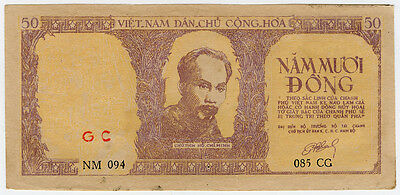 Vietnam 1952 Issue 50 Dong Banknote Scarce Crisp Xf.pick#39.
