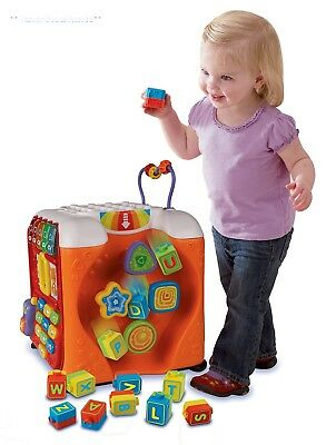 Toddler Activity Cube Baby Kids VTech Interactive Play Alphabet Learning Toy New
