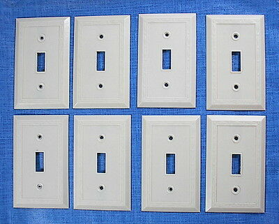 8 Vintage Leviton Ivory Dots & Diamonds Light Switch Cover Plate Lot Bakelite