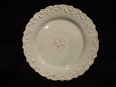 Home Essentials and Beyond Madison Collection Dinner Plate, Embossed Scroll