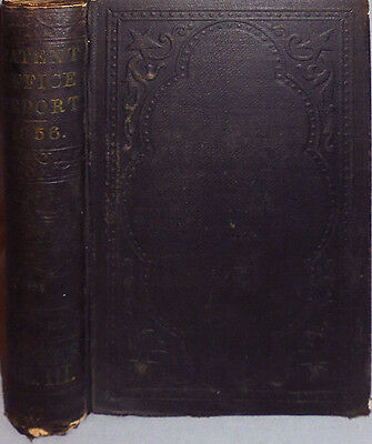 1856 -US Patent Office Report- Vintage Americana Book w/2000+ Illustrations