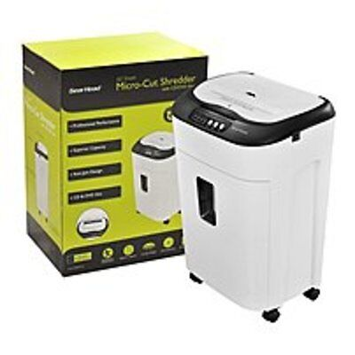 Gear Head PS8000MXW Auto Feed Micro-Cut Shredder - 60 Sheets - Black, White
