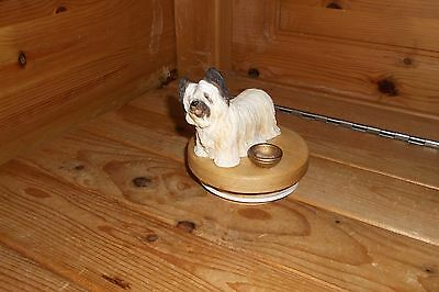 Skye Terrier Candle Jar Topper