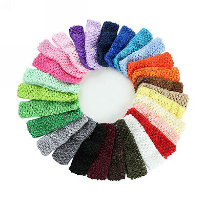50pcs Kids Baby Girl Toddler Headband Crochet Hair Band Headwear Accessories