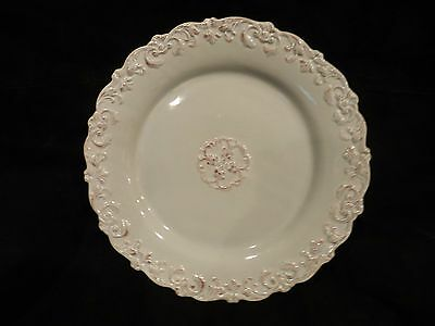 Home Essentials and Beyond Madison Collection Salad Plate with Embossed Scroll