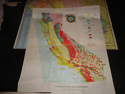 lot of 2 california maps 1966 division of mines & geology MUST SEE