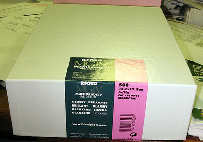 New! Fresh! Ilford MGIV Glossy 5 x 7 - 500 Sheet Photo Paper 1769964