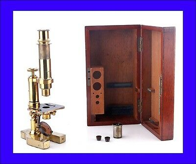 Early Antique Henry Crouch Microscope. S/N 994 . England, 1870