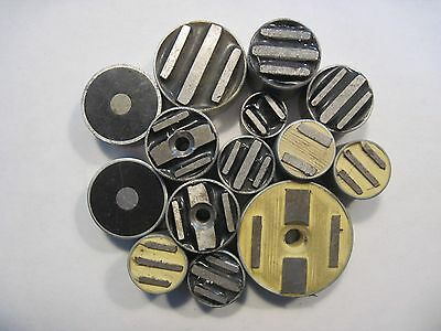 Misc. Lot of 14 Precision Cylindrical Fixture Magnets Toolmaker Machinist