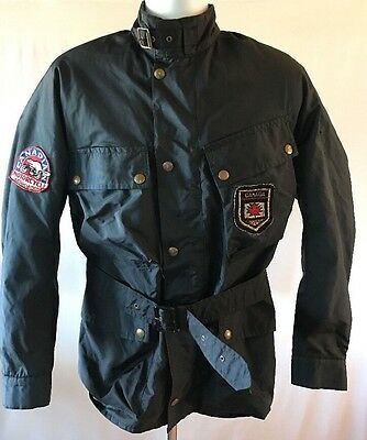 VTG Belstaff Trailmaster XL500 England Motorcycle Jacket W Patches Canadian Mtcy