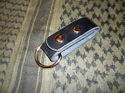 "Large Leather Belt Strap, Knife Sheath Dangler, 1 1/2"" D Ring fit 3"" Belt/ Strap"
