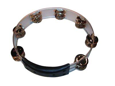 """New GP MT-102CH Percussion Professional 10"""" Double Row Chrome Tambourine"""