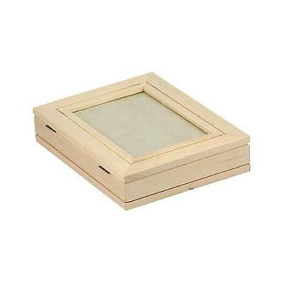 Bare Wood 19x14cm Box - Photo Display Top #8156