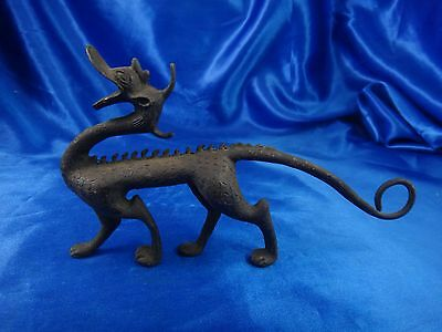 Antique Vintage Asian Chinese Handmade Bronze Dragon