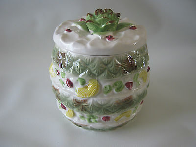 Vintage 1950's Japan Pineapple Ceramic Cookie Jar