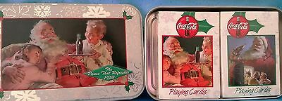 2-Deck Coca-Cola Holiday Playing Card Set in Collectible Tin