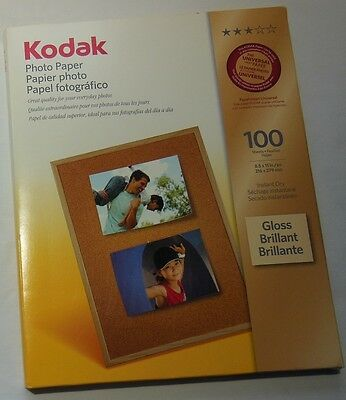 100 Sheets of Kodak Glossy Photo Paper, New
