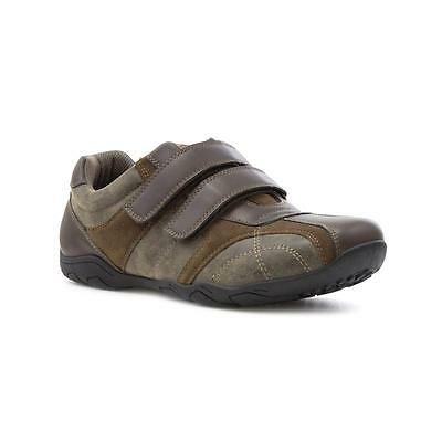 Beckett Mens Brown Touch Fasten Casual Shoe - Sizes 6,7,8,9,10,11,12,13