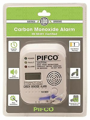 PIFCO Digital Display Carbon Monoxide Alarm CO Detector - 7 Year Life EN 50291 ✔