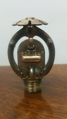 Vintage 1947 RELIABLE Brass Fire Sprinkler Head