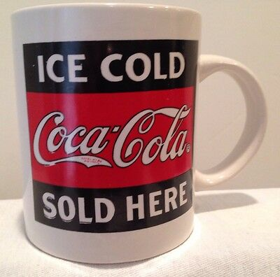 1996 Coca Cola (Ice Cold Coca Cola Sold Here) Coffee Cup